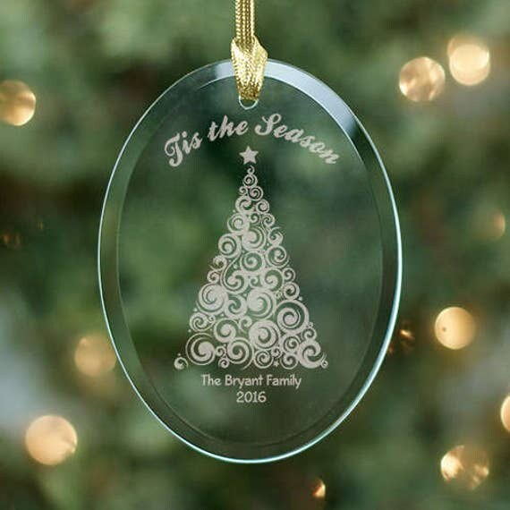 Engraved Christmas Tree Ornament Personalized Ornament