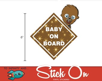Chewbaca Baby on Board Sticker