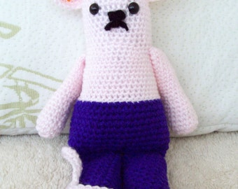Amigurumi Pink and Purple Mouse