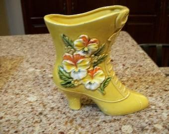 Vintage Napco Ceramic Boot Vase Made in Japan C9117