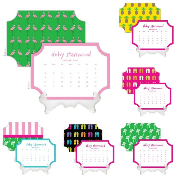 Desk Calendar Design Your Own : Items similar to design your own preppy die cut desk