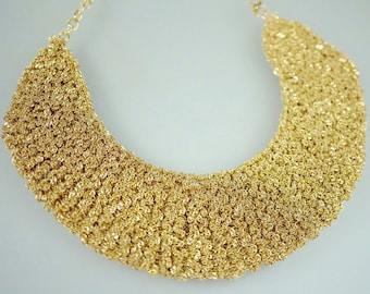 Crochet Metal Chain, Gold Color