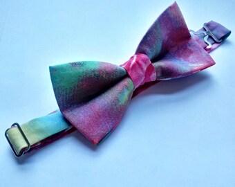 Pink/Purple Tie Dye Bow Tie