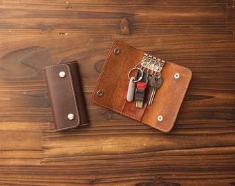 Key Holder, key case, key case leather, key holder leather, key pouch, 3832