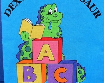 Dexter the Dinosaur Homemade Children's Cloth Book