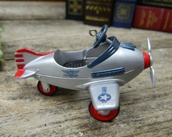Vintage 1996 Hallmark Collector's Series Kiddie Car Classics - Murray Airplane Christmas Ornament Original Box