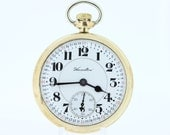 1918 Hamilton Gold Filled Pocket Watch 21 Jewel