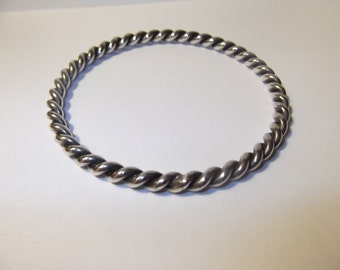 Vintage Sterling Twisted Bangle