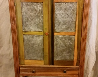 Antique Pine Pie Safe