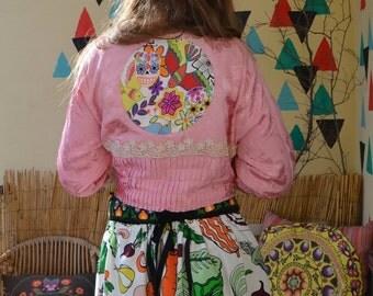Unique Vintage Antique Czech Folklore Jacket Brocate Cotton Lace 1910ś 1920ś Glass Buttons