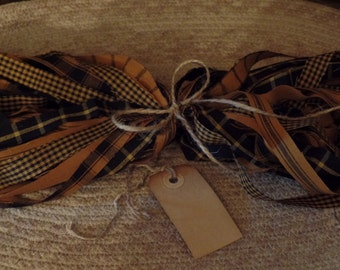 """50 Primitive Homespun Fabric Strips~Spice  Collection~ 1"""" x 18"""" ~Ties~Bows~Crafts~Accents~"""