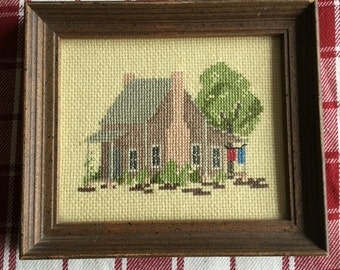 20% off - Cross stitch country house picture
