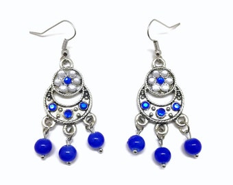 Royal blue chandelier earring – Etsy:Blue Chandelier Earrings, Royal Blue Earrings, Blue Earrings, Chandelier  Earrings, Glass Bead Earrings, Blue Dangle Earrings, Long Earrings,,Lighting