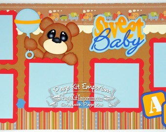 Scrapbook Page Sweet Baby Boy 2 page Scrapbook Layout 069