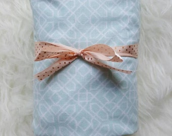 SALE Geometric//Light Blue//Changing Pad Cover//Crib Sheet