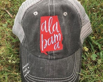 Alabama Distressed Trucker Hat