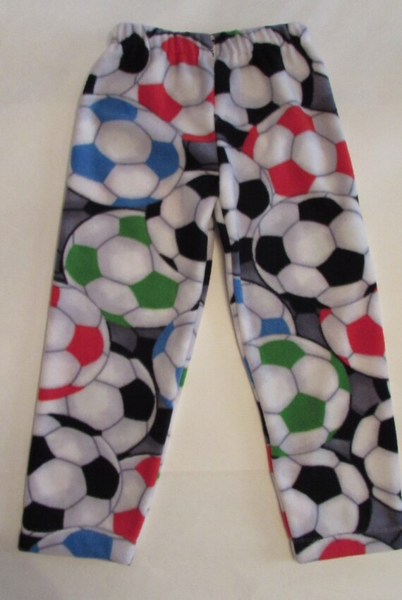Fleece soccer pajamas / mens soccer pajamas / kids sports pajamas / sizes 1/2T to xxl men /  football, basketball, baseball, soccer