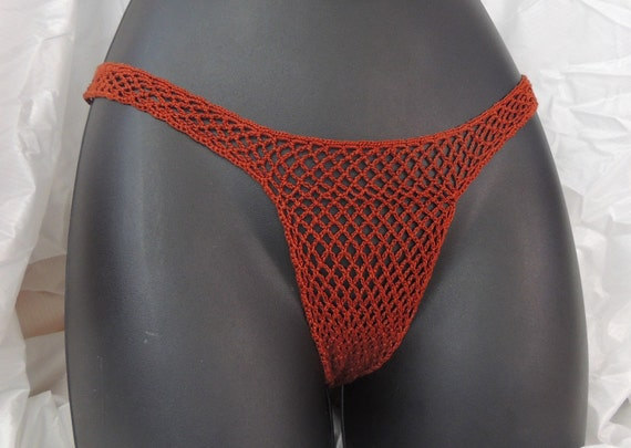 Sexy Fish Net Thongs Hot Lace Original Cotton Hand Made Crochet Many Colors