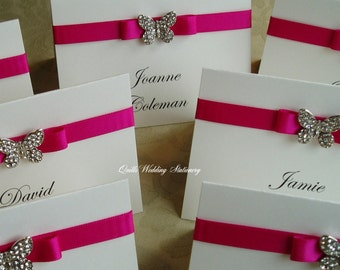 Wedding Place Name Cards. Butterfly Name Cards. Seating Cards.