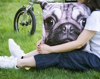 Pug, Dog, Pillow Cover, Cushion Cover, Pillow Case, Pillow cover - Pi-110