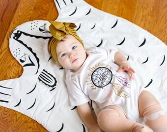 Bear Baby play mat/blanket
