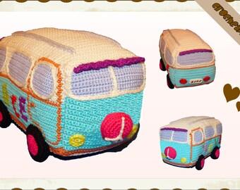 Crochet Pattern (001): Hippie Van