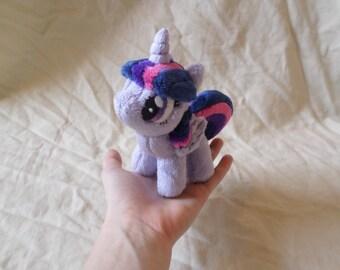 My Little Pony Friendship is Magic Handmade Custom 4.5'' Plush- Mini Alicorn Twilight Sparkle