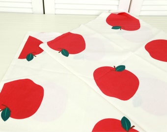 Cotton Fabric Apple By The Yard