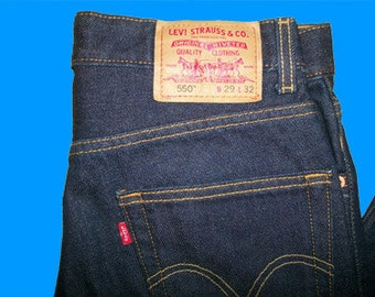 Levis 550 XX  Regular Vintage Made in USA 29 w  x 32 L