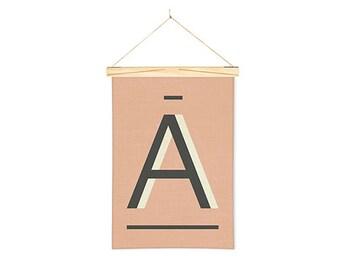 Linen Print Wall Art Banner Fawn A