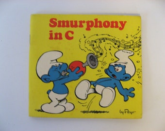 Smurphony in C. A mini Smurfs book by Peyo. 1982 vintage children's book.