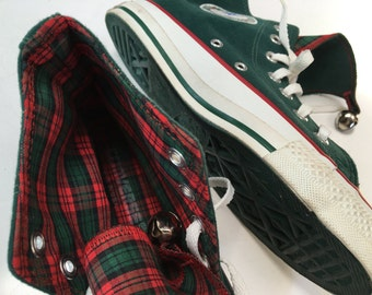CoNvErsE aLL StaR ChUcK TayLoR USA ChRisTmaS JiNgLe BeLLs Hi-ToPs CaNvaS Hi ToP teNNis shoes sneakers HoLiDaY BaSkEtBaLL sHoEs SiZe 5 Men's