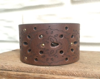 Hand-Stamped Leather Cuffs by LRM