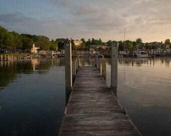 Docks in the Petoskey harbor