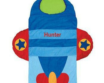 Personalized School Airplane Nap Mat With Embroidered Name Boys Preschool Nursery Kindergarten