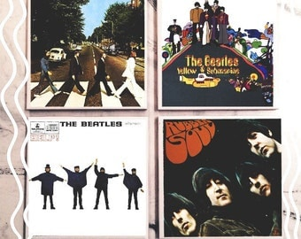 The Beatles Album Art Tile Coaster Set