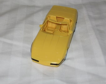 vintage 1995 ertl yellow corvette convertible car