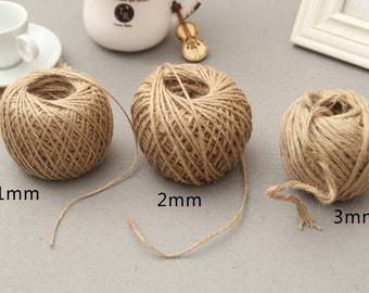 Burlap ROPE,JUTE ROPE Natural Burlap twisted Cord ,Rustic Craft String , High Quality vintage braided Jute rope