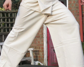100% Organic Cotton Thai Fisherman Pants, Undyed (TALL AND SLIM size)