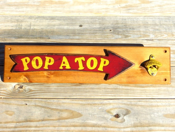 Bbq Restaurant Wall Decor : Restaurant decor rustic bottle opener kitchen wall by