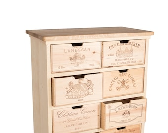 Chest of drawers, 8 wine-box-drawers