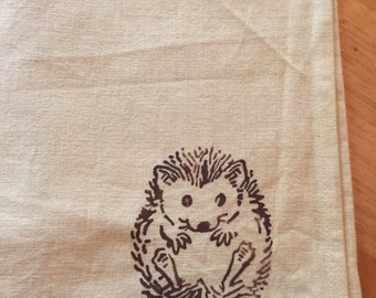porcupine baby set of 2 tea towels
