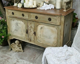 Shabby Chic French Country Sideboard with Mirror