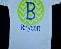 Boys Monogram Onesie/Shirt