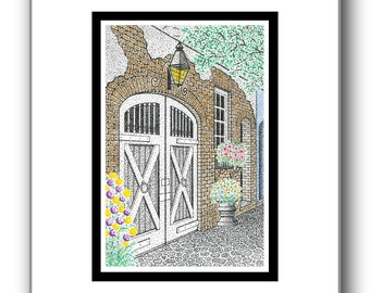 Charleston Charm - Matted Limited Edition Print