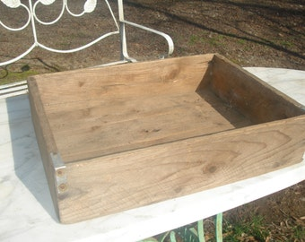 SALE antique wood crate old apple crate antique wood box storage box