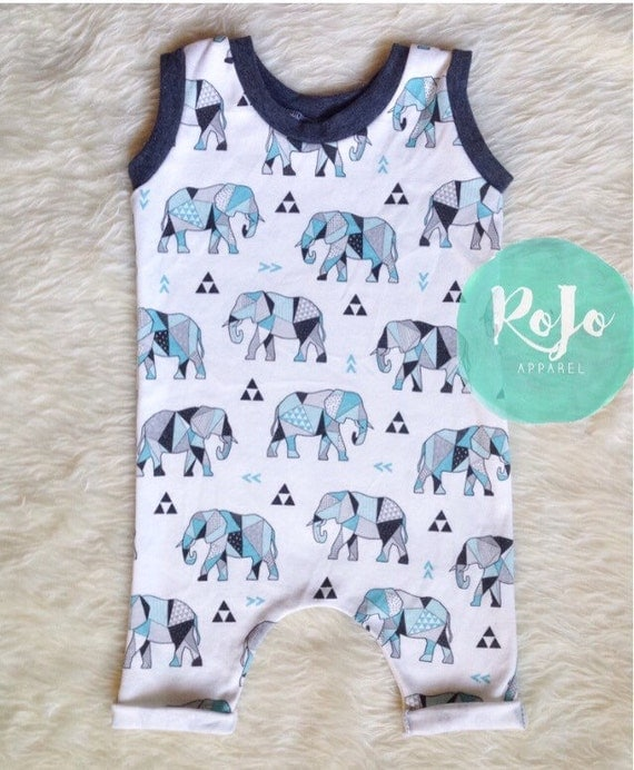 ready to ship baby boy romper baby shower gift last minute gift 0 3