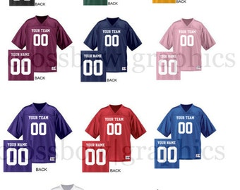 CUSTOM Football Jersey ANY Color Personalized Numbers Name & Team! S-3XL