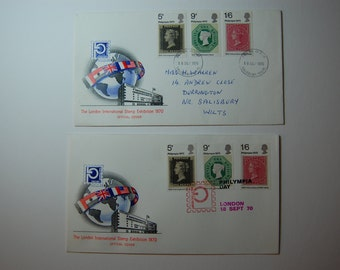 GREAT BRITAIN-1970-Philympia Expo-London Stamp Expo