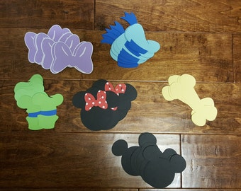 60 piece Mickey Mouse Clubhouse Cutouts